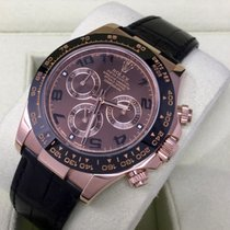 Rolex Daytona Rose Gold Brown Dial on Leather Strap 116515