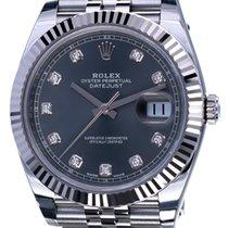 Rolex Datejust II Jubilee Steel Rhodium Diamonds 41 mm (Full Set)