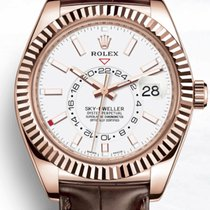Rolex Sky-Dweller Or rose 42mm Brun Arabes