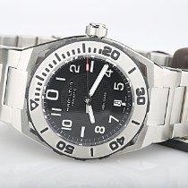 Hamilton Khaki Navy Sub Steel 42mm Black Arabic numerals