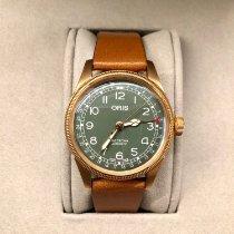 Oris Bronze Automatic Green Arabic numerals 40mm new Big Crown Pointer Date