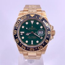 Rolex GMT-Master II Yellow gold 40mm Green No numerals