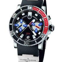 Ulysse Nardin Maxi Marine Diver gebraucht 42.7mm Schwarz Chronograph Datum Kautschuk