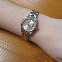 Rolex Lady-Datejust Or/Acier 26mm Argent Sans chiffres