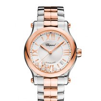 Chopard Happy Sport Silver Guilloche Dial Ladies 278559-6002