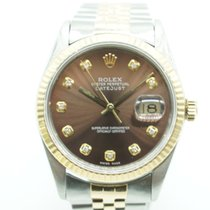 Rolex Datejust 36mm Two Tone Diamond Chocolate Dial