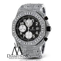 Audemars Piguet Diamonds  Royal Oak Offshore Watch With Black...