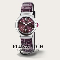 Bulgari Lucea Steel 33mm Bordeaux Roman numerals