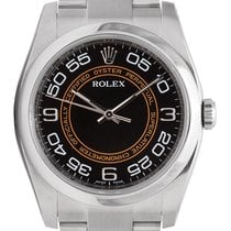 Rolex Oyster Perpetual 36mm Stainless Steel Orange/Black Dial...