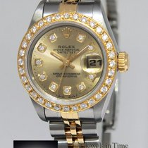 Rolex Datejust 18k Gold/Steel Champagne Diamond Dial/Bezel...