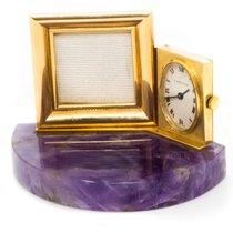 Cartier 1960s CARTIER AMETHYST & 18KT YG PICTURE FRAME BOUDOIR CLOCK 1960 usados