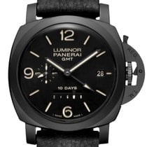 Panerai Luminor 1950 10 Days GMT Keramiek 44mm Zwart Arabisch