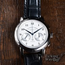 A. Lange & Söhne White gold Manual winding Silver 39.5mm pre-owned 1815