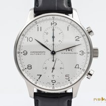 IWC Portuguese Chronograph White Gold B&P