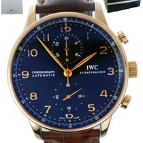 IWC Portuguese Chronograph Rose gold 41mm Black Arabic numerals United States of America, New York, Smithtown