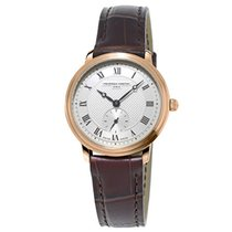 Frederique Constant Slimline Mid Size Gold/Steel 28.6mm Silver Roman numerals