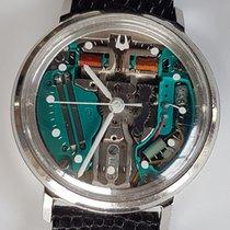 Bulova Gold/Stahl 35mm Quarz Bulova Accutron  214  Spaceview gebraucht