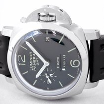 Panerai Luminor 1950 8 Days GMT Steel 45mm Black Arabic numerals United States of America, New York, Greenvale