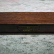 Zenith vintage wooden big watch box for primero and other models