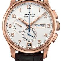 Zenith Rose gold Automatic Silver new El Primero Winsor Annual Calendar