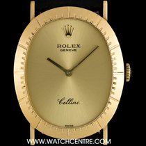 Rolex 18k Yellow Gold Oval Cellini Dress Gents Wristwatch 4056