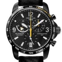 Certina DS Podium GMT Black Chronograph Quarz 42mm Ungetragen...