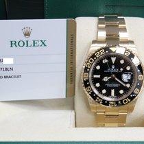 Rolex Gmt Master II 18k YG Black Ceramic 116718 Box & Papers