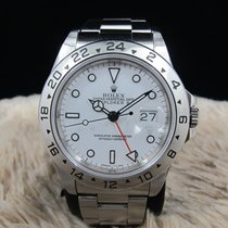 勞力士 EXPLORER 2 16570 with White T25 Dial