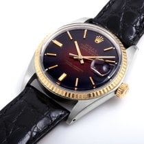 Rolex TT 36mm DATEJUST Burgundy Vignette Dial leather strap 1601