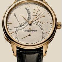 Maurice Lacroix Roségold Handaufzug Silber 45mm gebraucht Masterpiece