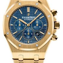 Audemars Piguet Royal Oak Chronograph Yellow gold 41mm Blue No numerals United States of America, New York, New York