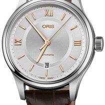 Oris Classic Steel 42mm Silver Arabic numerals