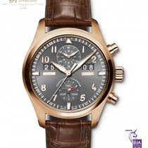 IWC Pilot Spitfire Perpetual Calendar Digital Date-Month Or rose 46mm Gris Arabes