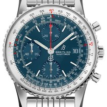 Breitling Navitimer Heritage Steel 41mm Blue No numerals