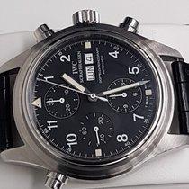 IWC Pilot Double Chronograph Acciaio 42mm Nero Arabo Italia, CASTELD'ARIO(MN)