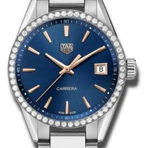 TAG Heuer Carrera Lady Staal 36mm Blauw