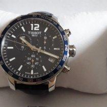Tissot Quickster occasion Bleu Chronographe Date Tachymètre Cuir