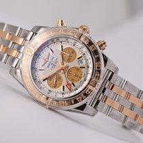 Breitling Chronomat 44 GMT 18kt gold/SS Silver Dial