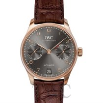 IWC Portugieser Automatic Dark Grey 18k Red Gold/Leather 42.3mm