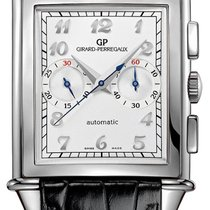 Girard Perregaux Vintage 1945 Steel 36.95mm Silver Arabic numerals United States of America, New York, New York City