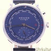 NOMOS Zürich Weltzeit Stahl 39,9mm Blau Deutschland, Duisburg/München/Linz