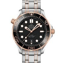 Omega 210.20.42.20.01.001 Gold/Steel Seamaster Diver 300 M 42mm