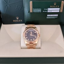 Rolex Day-Date II yellow gold Wave Dial Serviced