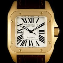 Cartier Santos 100 pre-owned 37mm Yellow gold