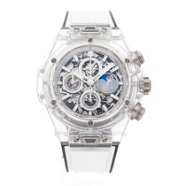 Hublot Big Bang Unico pre-owned 45mm Moon phase Chronograph Date Perpetual calendar Rubber