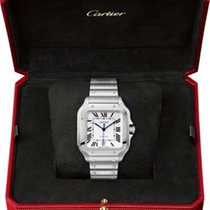 Cartier Santos (submodel) Steel 39.8mm Silver Roman numerals Australia, Sydney
