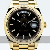 Rolex Day-Date 40 Yellow gold 40mm Black