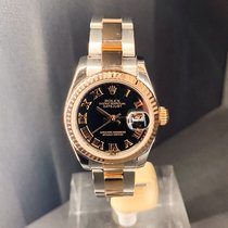 Rolex Lady-Datejust Or/Acier 26MMmm Noir Romain France, Paris