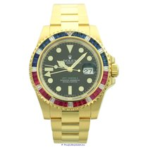 Rolex GMT-Master II Zuto zlato 40mm Crn