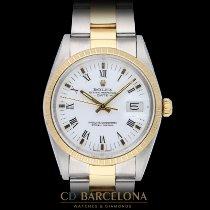 Rolex Oyster Perpetual Date Acero y oro 34mm Blanco Sin cifras España, Barcelona